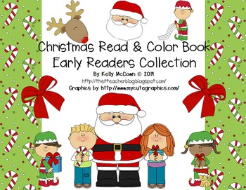 Christmas Sight Words Game + Read & Color Book
