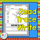 Christmas Read Trace Write - A Christmas Literacy Center