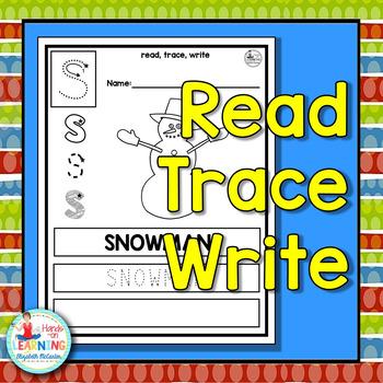 Christmas Read Trace Write - A Christmas Literacy Center