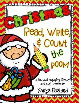 Christmas Read, Write, and Count the Room {Literacy and Ma