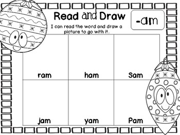 Christmas Read and Draw - Short and Long Vowels
