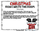 Christmas Read and Write the Room Center
