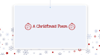 Christmas Reader's Theater Poem