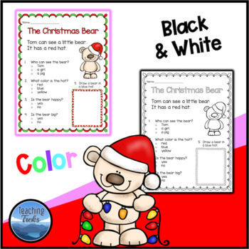 Christmas Activities: Christmas Reading Comprehension Worksheets