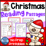 Christmas Activities: Christmas Reading Comprehension Passages and Questions