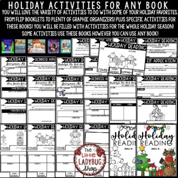 Christmas Reading Activities [Legend of The Poinsettia, Auntie Claus & More ]