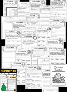 Christmas Reading Comprehension Passages (BUNDLE)