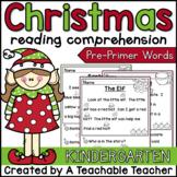 Christmas Reading Comprehension for Kindergarten
