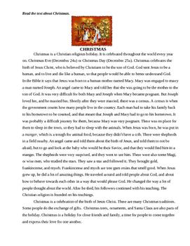 Christmas Reading