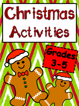 Christmas grades 3 5 teaching resources teachers pay teachers christmas reading activities for grades 3 5 fandeluxe Choice Image