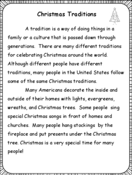 Christmas Reading Activities for Grades 3-5
