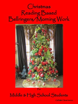Christmas Reading Based Bellringers for Middle & High School Students