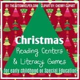 Christmas Reading Centers and Literacy Games for Special E