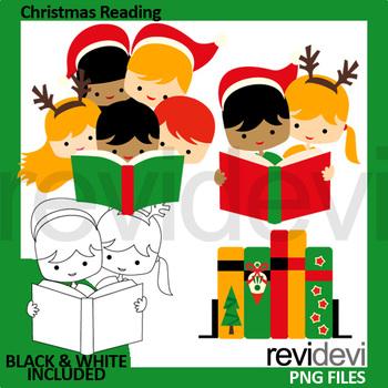 Christmas Reading Clip Art