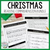 Christmas Reading Comprehension Passages and Questions Bundle