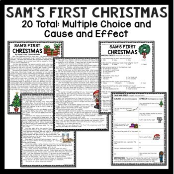 Christmas Reading Comprehension Middle School Bundle; various genres
