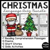 Christmas Reading Comprehension Middle School Bundle; various genres