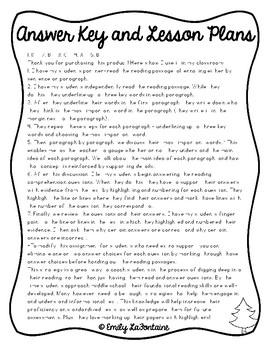 Christmas Reading Comprehension Passage