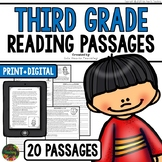 Third Grade Reading Comprehension Passages and Questions