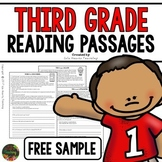 Third Grade Reading Comprehension Passages and Questions (FREE SAMPLE)