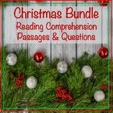 Christmas Reading Comprehension Passages & Questions Bundle
