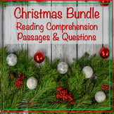Christmas Reading Comprehension Passages & Questions Bundle