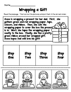 Christmas Reading Comprehension, Sequencing Stories and Activity Packet