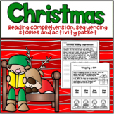 Christmas Reading Comprehension, Sequencing Stories and Ac