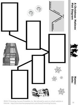 Christmas Reading Comprehension Story Packet, Christmas ELA Printable Worksheets