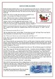 "Christmas Reading Comprehension Text / Story: ""Santa's Tim"
