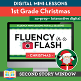 Christmas Reading Fluency in a Flash 1st Grade • Digital F