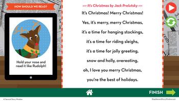 Christmas Reading Fluency in a Flash 3rd Grade • Digital Fluency Mini Lessons