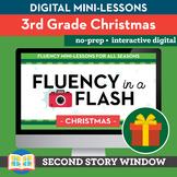 Christmas Reading Fluency in a Flash 3rd Grade • Digital F