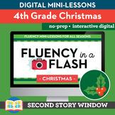 Christmas Reading Fluency in a Flash 4th Grade • Digital F