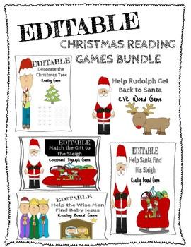 Christmas Reading Games Bundle