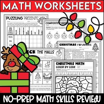 Christmas Math and Christmas Reading Worksheets