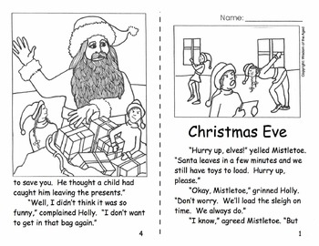 Christmas - Reading - No Prep - Printable Story