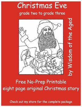 Christmas - Reading - No Prep - Printable Story