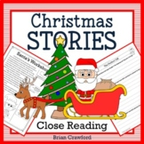 Christmas Close Reading Passages - Stories and Writing Activities