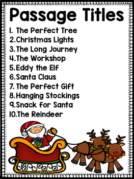 Christmas Reading Passages Differentiated