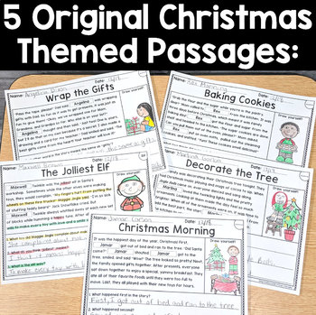 Christmas Reading Passages: PERSONALIZED Comprehension December and Winter