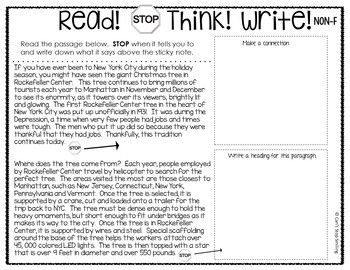 Christmas Reading Comprehension Passages and Questions 3rd Grade