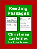 Christmas Reading Passages with WH Questions