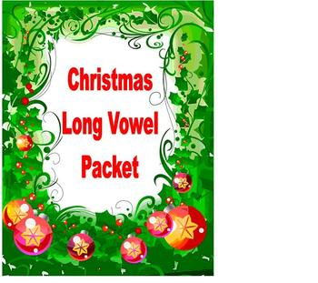 Christmas Reading Phonics Long Vowel Packet!