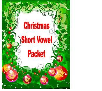 Christmas Reading Phonics Short Vowel Packet!