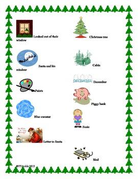 Christmas Reading Rebus Story