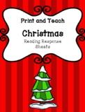 Christmas Reading Response Sheets