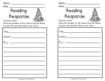 Christmas Reading Response Task Cards