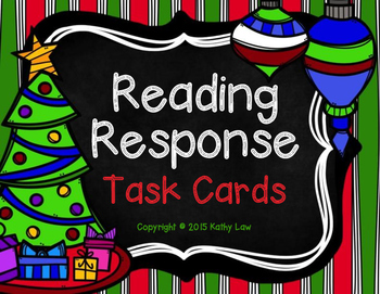 Christmas Reading Response Task Cards