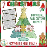 Christmas Reading Scavenger Hunt Puzzle Poster